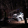 The Manorville F.D. and units from the SCPD 7th Pct. responded when the driver of this pick up truck was seriously injured when he lost control and struck a telephone pole, then a large tree, Friday night 12/20/2013 at approx. 9:40p.m. on North Street just east of Ryerson Ave. in Manorville. The accident knocked out power for hours to local homes and businesses and traffic lights as far down as CR 111 and the LIE.